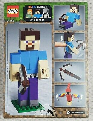 LEGO Minecraft Steve BigFig with Parrot 21148 Building Kit, 2019 (159 Pieces)