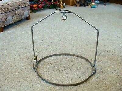 Antique French Iron Pot Holder Butcher's, Drying Hanging Rack Country Store