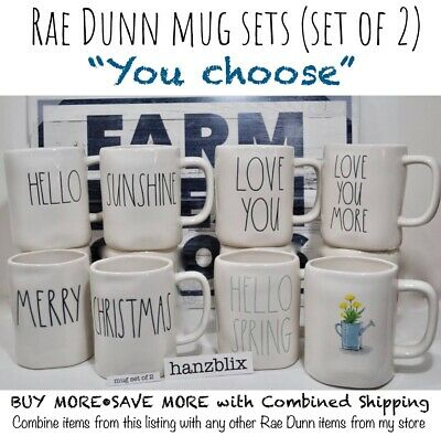 "Rae Dunn Mug Sets Valentine Spring Easter Halloween Christmas ""U CHOOSE"" '1819"