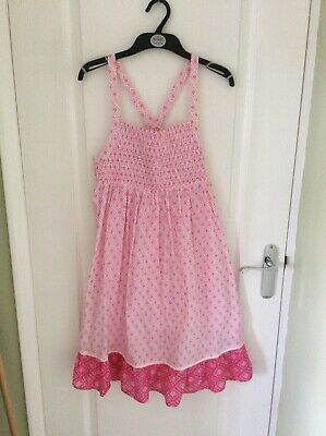 BNWT Girls M&S 100% Cotton Pink Mix Sun Dress age 13-14 years