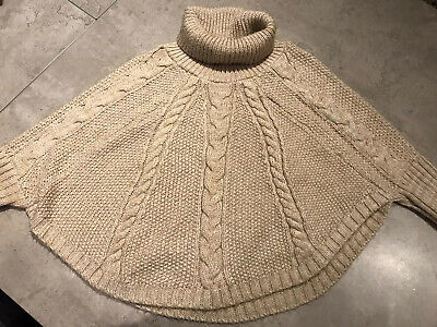Childens John Lewis cable knit Poncho Style Jumper