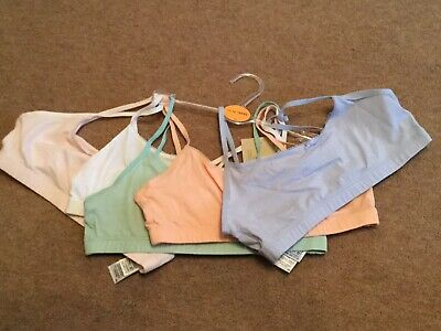 Girls Cotton Crop Tops 5 Pack Bundle Size 11-12 Years New M&S