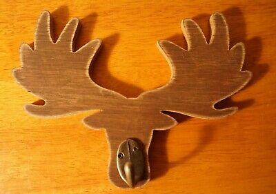 "Rustic Moose Antler Tray Figurine 23/"" Fruit Bowl Centerpiece Faux Lodge Decor"
