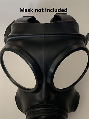S10 Gas Mask Rubber Fetish 2 Way Mirror Lenses Outserts