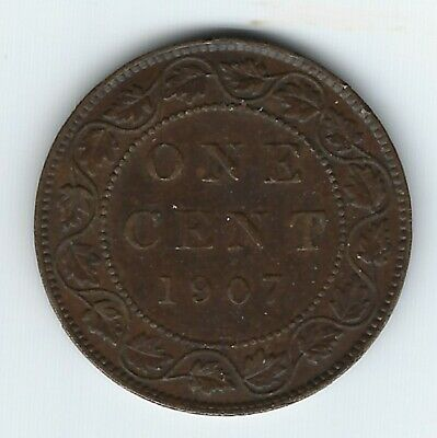 Canada 1907-H Large Cent XF