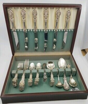 Sterling Silver Reed Barton Francis I Flatware Set 45Pcs No Monograms