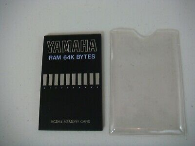 Yamaha Ram Memory Card - MCD64 - for SY & TG series synthesizers, RY & RM Drum