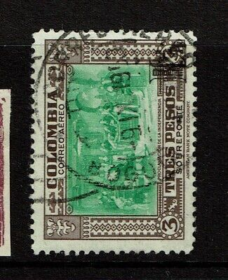 Colombia SC# C206, Used, very minor crease - S11109