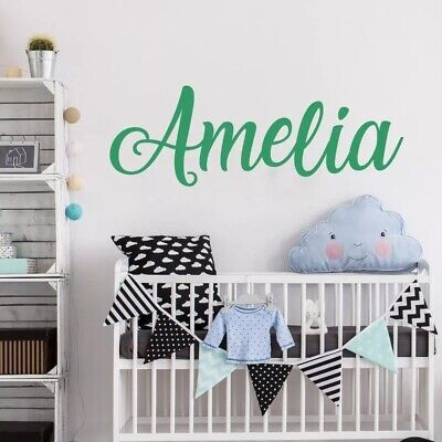 Custom Personalised Name Kids Wall Art StickersArt Nursery Vinyl Decals Decor AU