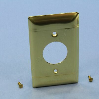 """P&S Polished BRASS 1-Gang 1.406"""" Single Receptacle Outlet Cover Wallplate B7-PB"""