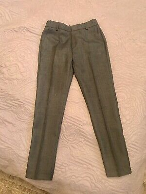 ZARA BOYS COLLECTION Grey Wool Formal Tailored Slim Trousers Age 9 yrs BNWOT