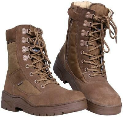 Paire De Chaussures Montantes / Boots Sniper Cuir Aspext Daim Coyote Thinsulate