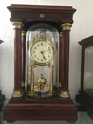 Gustav Becker Empire with pendulum No.29 anniversary clock Jahresuhr