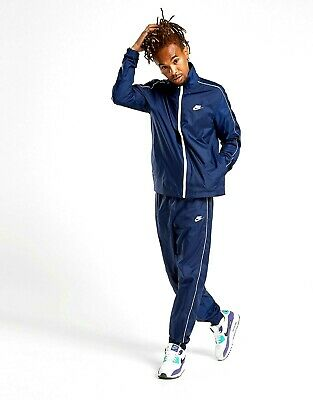 Nike Mens Lightweight Woven Slayer Sportswear Tracksuit Track Suit Navy / White