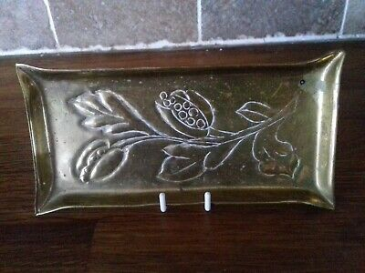 Antique brass tray ,Arts Crafts .