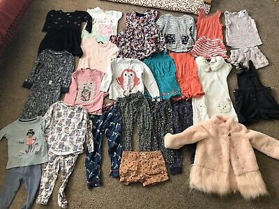 Girl Clothes Bundle 3-4 Years 27 Pieces Inc Joules And Next, Dresses Tops PJs