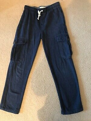 Mini Boden Boys Combat Navy Trousers Age 9