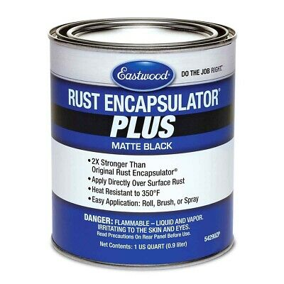 Eastwood Matte Black Rust Encapsulator Plus 1 Quart Long Lasting Heat Resistant