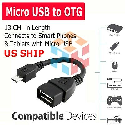 Micro USB Host OTG Adapter Cable for Motorola DROID XYBOARD 8.2 10.1