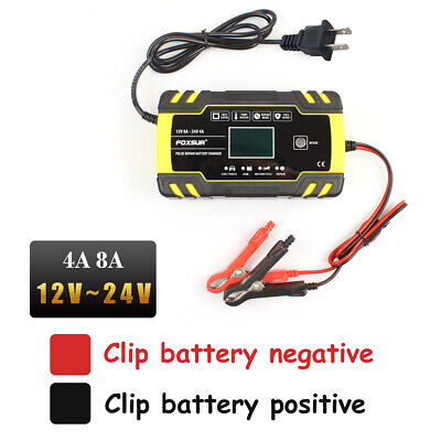 12V 8A Automatic Car Battery Charger Negative Pulse Desulfatio Battery Reviver