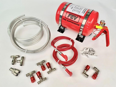 FEV Motorsport Rally Race Mechanical Plumbed-In Fire Extinguisher 3.5ltr