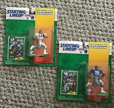 STARTING LINEUP'S FOOTBALL (Lot of 2) - -1994 - - (BARRY SANDERS & E. SMITH)