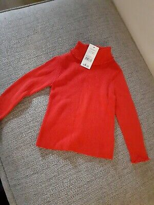 Girls red polo jumper age 2-3 years