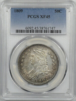 1809 Capped Bust Half Dollar Pcgs Xf-45 Flashy, Pretty O-105