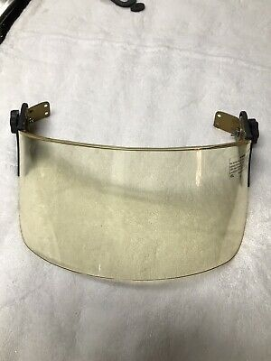 Bullard / Paulson 4 inch faceshield with helmet mounting brackets.