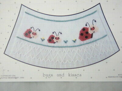 Smocking Plate Little Memories Bugs and Kisses #072  Heirloom Sewing