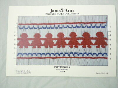 Smocking Plate Paper Doll Series Jane & Ann PDS 1