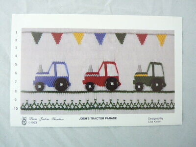 Smocking Plate Laura Jenkins Thompson Josh's Tractor Parade Heirloom Sewing