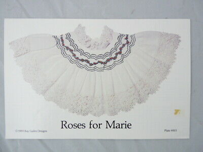 Smocking Plate Kay Guiles Roses for Marie Collar Heirloom Sewing