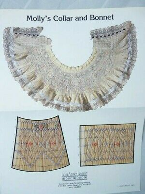 Smocking Plate Lou Anne Lamar Molly's Collar and Bonnet Heirloom Sewing