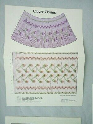 Smocking Plate Mollie Jane Taylor Clover Chains Heirloom Sewing