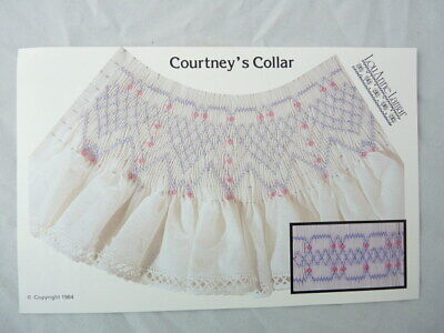 Smocking Plate Lou Anne Lamar Courtney's Collar Heirloom Sewing