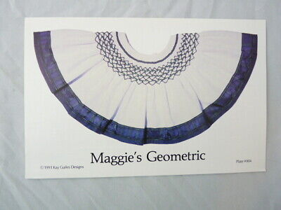 Smocking Plate Kay Guiles Maggie's Geometric Collar Heirloom Sewing #004