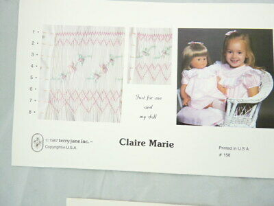 Smocking Plate Terry Jane Inc.Claire Marie Child and Doll Designs #158