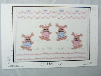 Smocking Plate Little Memories At The Hop Bunnies Heirloom Sewing