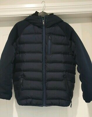 Boys Winter Puffer Coat from Next Dark Blue/ Navy Age 11 Excellent Condition