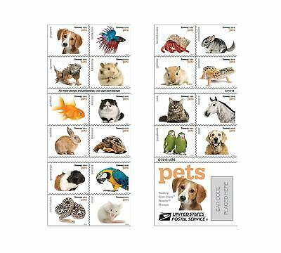 2016 Sheet of 20 Forever Pets USPS Stamps
