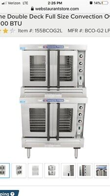 Bakers Pride Cyclone Series DOUBLE CONVECTION OVENS 120,000 Btu Brand New