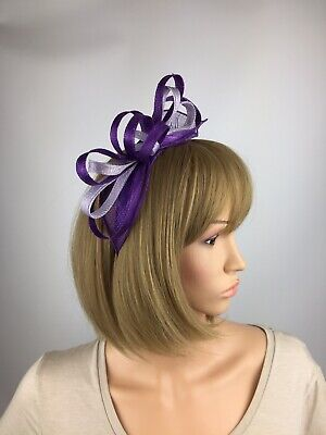 Purple and Lilac Fascinator Wedding Mother Of The Bride Ascot Races Ladies Day