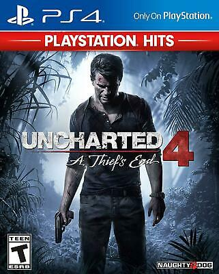 Uncharted 4: A Thief's End Hits - for PS4 PlayStation 4 - New