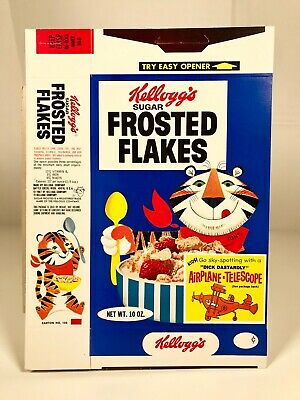 Vintage 1969 Kellogg's Frosted Flakes Cereal Box Hanna Barbera Dick Dastardly