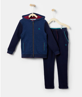 Ted Baker Boys 2 Piece TIELAR Cotton Tracksuit HOODED JACKET Joggers 11-12 years