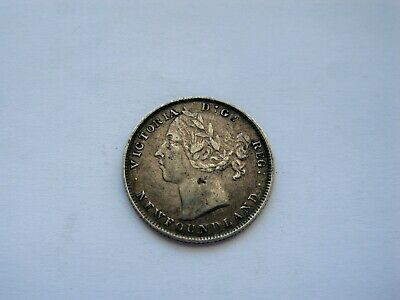 1896 Canada Newfoundland 20 Cents Silver, Large 96, Nice Higher Grade Coin