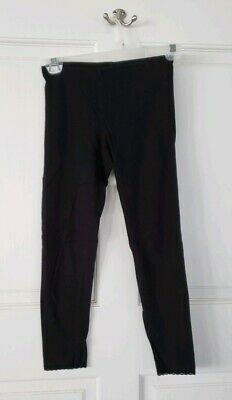 Old Navy Girls 10/12 Medium Black Cropped Leggings