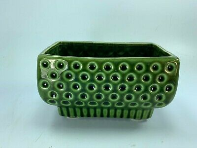 Vintage Green Planter Small Dot Dotted Dots 32319