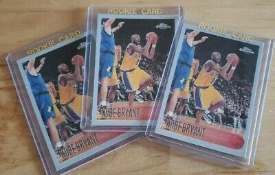1996-1997 Topps Chrome # 138 KOBE BRYANT ROOKIE REPRINT Lot 3 Lakers RP REPRINT